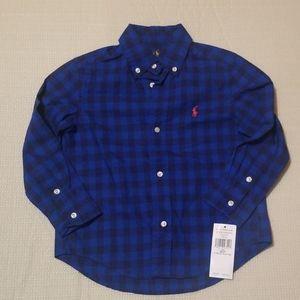 Ralph Lauren polo toddler boys plaid dress shirt